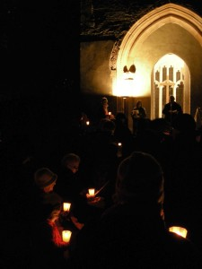 The annual carol service at the tower