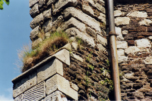 12_Badly decayed stonework awaiting repair in 2002