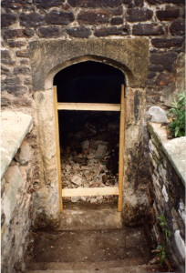 2_Debris revealed following opening up crypt door in 1989