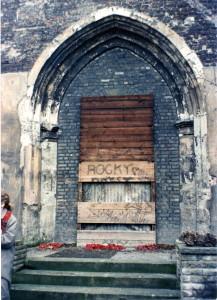3_Blocked doors to the vestry in 1988